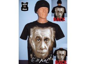 tričko, einstein, génius, rock eagle, rovnice, černé