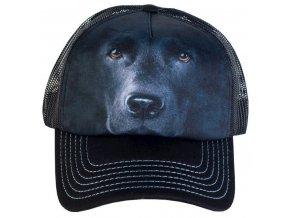 Kšiltovka s 3D potiskem černého labradora