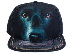 Basebolka černý labrador 3d - kšiltovka