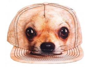 Basebolka pes čivava 3D - kšiltovka