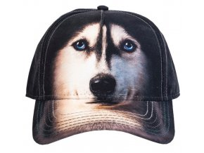 Basebolka Pes Husky 3D - kšiltovka
