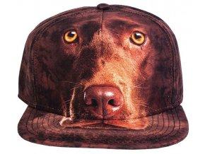 Basebolka pes labrador hnědý 3D - kšiltovka2