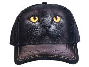 Basebolka kočka čertíček 3d - kšiltovka