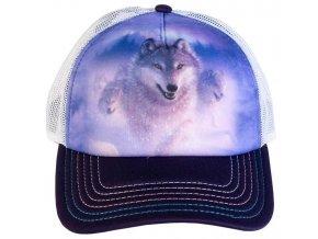 Kšiltovka s potiskem polárního vlka