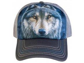 Kšiltovka s potiskem vlka