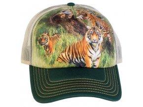 Kšiltovka s potiskem tygrů
