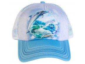 Kšiltovka s potiskem delfínů