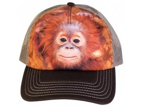 Kšiltovka s potiskem orangutana