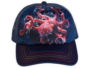 Kšiltovka s potiskem chobotnice