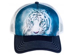 Kšiltovka s potiskem bílého tygra
