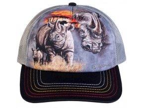 Kšiltovka s potiskem nosorožce