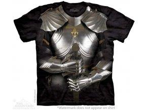 dětské tričko-bavlněné-batikované-potisk-brnění-rytíř