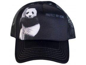 Kšiltovka s potiskem ohrožené pandy