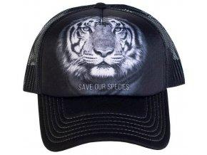 Kšiltovka s potiskem ohroženého tygra