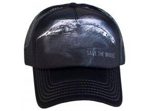 Kšiltovka s potiskem ohrožené velryby