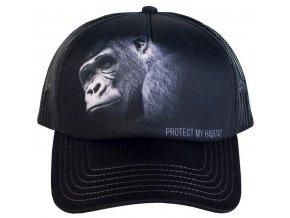 Kšiltovka s potiskem ohrožené gorily