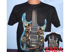 tričko, kytara, černé, rock eagle, svítící, fluorescenční potisk