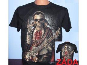 tričko, upír, kytara, paroháč, svítící, fluorescenční potisk