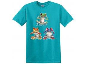 dětské, tričko, potisk, levné, tři žabičky, nevidím nemluvím neslyším
