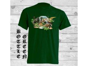 lahvove zelene tricko dinosauri