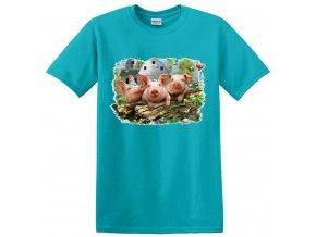 dětské, tričko, potisk, levné, tři prasárka, pohádka