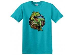 dětské, tričko, potisk, levné, dinosaurus, t-rex