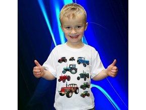 tričko, dětské, pánské, potisk, traktor