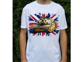tričko, dětské, pánské, potisk, military, tank challenger