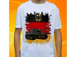 tričko, dětské, pánské, potisk, military, tank tiger