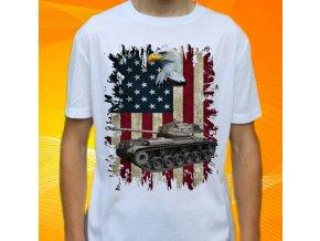 tričko, dětské, pánské, potisk, military, tank patton