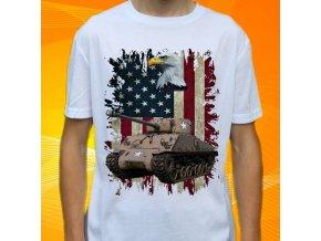 tričko, dětské, pánské, potisk, military, tank sherman
