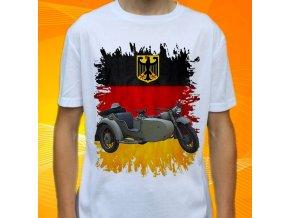 tričko, dětské, pánské, potisk, military, motorka bmw