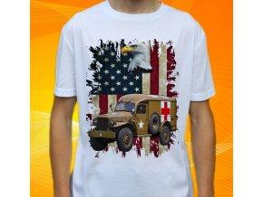 tričko, dětské, pánské, potisk, military, dodge usa