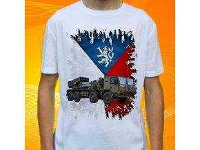 tričko, dětské, pánské, potisk, armádní, raketnice tatra