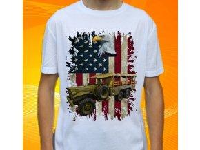 tričko, dětské, pánské, potisk, vojenské, dodge usa