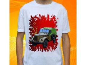 tričko, dětské, pánské, potisk, armádní, gaz