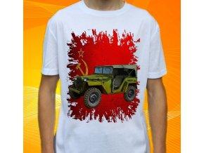 tričko, dětské, pánské, potisk, vojenské, gaz