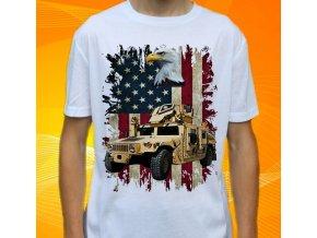 tričko, dětské, pánské, potisk, military, hummer