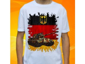 tričko, dětské, pánské, potisk, military, tank konigstiger