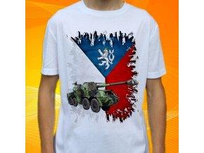 tričko, dětské, pánské, potisk, vojenské, houfnice dana