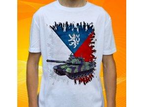 tričko, dětské, pánské, potisk, vojenské, tank t72