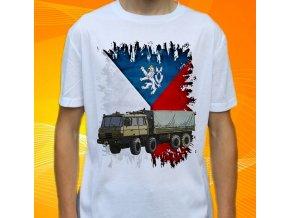 tričko, dětské, pánské, potisk, armádní, tatra