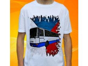 tričko, dětské, pánské, potisk, autobus, karosa