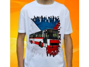 tričko, dětské, pánské, potisk, autobus, mhd