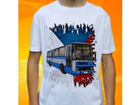 tričko, dětské, pánské, potisk, autobus karosa, mhd
