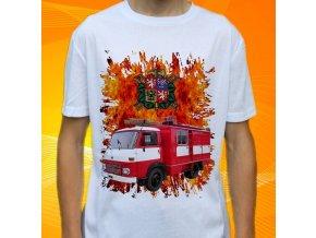 tričko, dětské, pánské, potisk. hasičské auto, avia