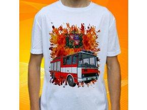 tričko, dětské, pánské, potisk. hasičské auto, Liaz cas