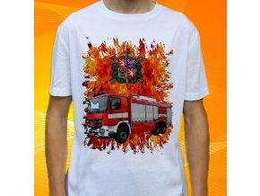 tričko, dětské, pánské, potisk. hasičské auto, mercedes benz