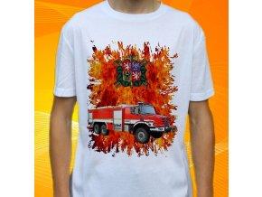 tričko, dětské, pánské, potisk. hasičské auto, mercedes