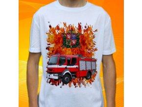 tričko, dětské, pánské, potisk. hasičské auto, renault
